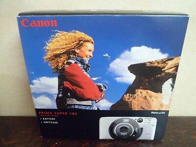 Appareil photos CANON Prima Super 105 - NEUF - Complet + facture 2002 - 9 photos