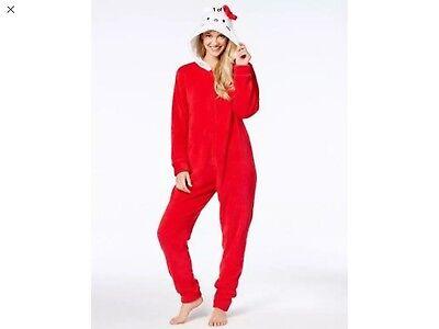 New Sanrio Hello Kitty Woman's 1 Pc Pajama Suit Costume Sleepwear Lounger Medium - Womens Hello Kitty Costume