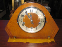 ENFIELD ANTIQUE WESTMINSTER CHIMING MANTEL CLOCK, WORKING