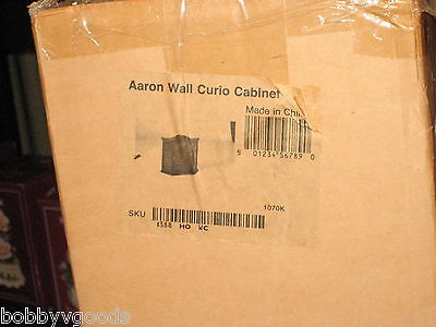 """TOUCH OF CLASS WOOD WALL / TABLE TOP CURIO DISPLAY CABINET """" AARON """" BRAND NEW"""