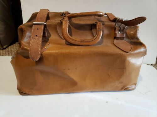 Vintage Antique Large Doctor Medical Bag