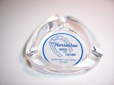 Vintage Horseshoe Hotel & Casino Downtown Las Vegas Glass Ashtray