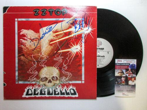 Billy Gibbons & Dusty Hill Signed ZZ Top 'Deguello' Vinyl Album JSA