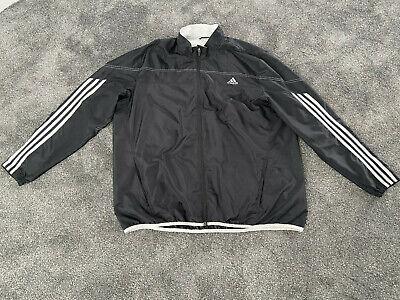 Mens Adidas Windbreaker Waterproof Jacket - Black - Size XXL