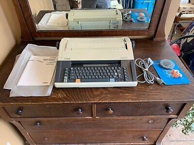 Vintage Canon Mx350 Electronic Typewriter W New Ribbon Extras
