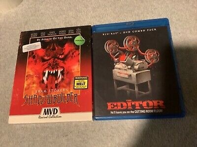 HORROR BLURAY LOT 1998 SHADOW BUILDER COLLECTORS + POSTER + THE EDITOR DVD COMBO