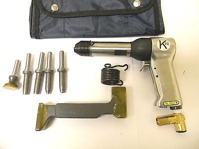Rivet Gun Kit W 4x Rivet Gun Bucking Bar Rivet Sets And Tool Pouch Brand New