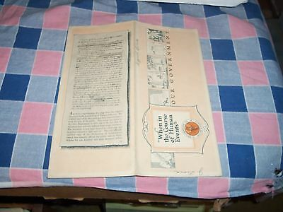 Booklet Northwestern Bank Chippewa Falls Dec 15 1920 Declaration Of Independence