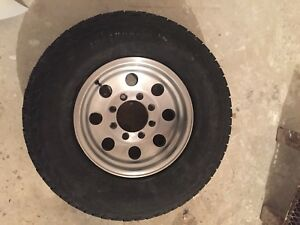 Ford 8 bolt Eagle alloy 16x9 wheels and tires