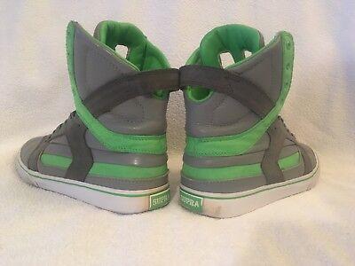 NEU Supra Skytop II 2 Grün 41 Sneaker Skater Schuhe Green/lime US8 (Lime Grün Schuhe)