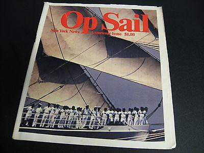 Newspaper New York News 1976 Op Sail Sailing A Souvenir Issue World Trade Center