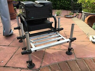 RIVE FISHING SEAT BOX WITH WHEEL KIT AND NUMEROUS ACCESSORIES. EXCELLENT COND.