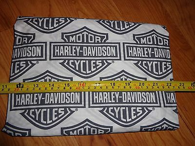 "40"" Wide x 10"" Long Harley Davidson Fabric Black/Gray White Shield - New!"