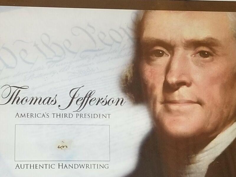 thomas jefferson handwritten word hand writing written jsa coa signed president