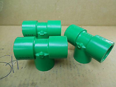 Nibco Green Glue-in 1 T-fitting Sch80 185 Psi 73f Lot Of 3 New