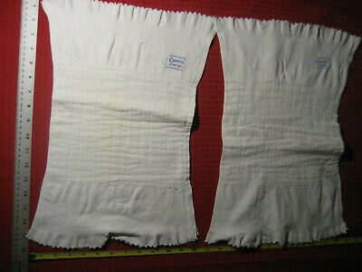 VTG 70s CURITY STRETCH CLOTH BLUE LABEL DIAPERS [LOT OF 2] CLOTHS