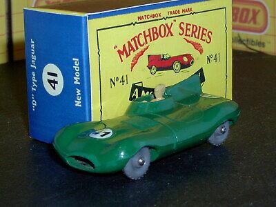 Matchbox Lesney Jaguar D type 41 b1 24GPW 41 D-R open SC3 EXC crafted box