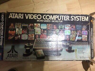 VINTAGE ATARI VIDEO COMPUTER SYSTEM + GAMES