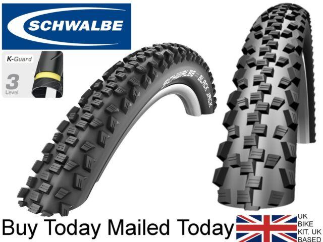 Schwalbe Black Jack Kids MTBike Tyre 12 16 18 20 24 x 1.9 2.1 KevlarAntiPuncture