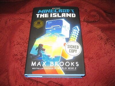 Minecraft The Island Max Brooks Hardcover Signed 1St Ed 1St Prt