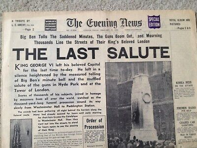 The Evening News newspaper 15th February 1952. COMPLETE