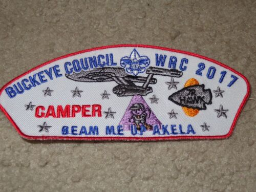 Boy Scout BSA 2017 Star Trek Webelos Camp R Buckeye Ohio Council Strip CSP Patch
