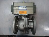 "Ohio Valve Co Actuator OV-105-12 6 Spring W/ Haitima 3"" Ball Valve"