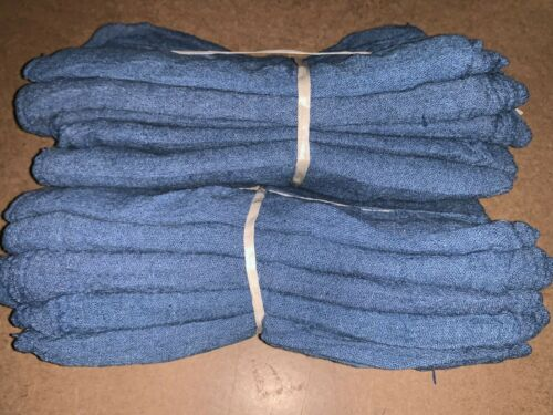 "500 new great mechanics shop rags towels blue jumbo 13""X14"""
