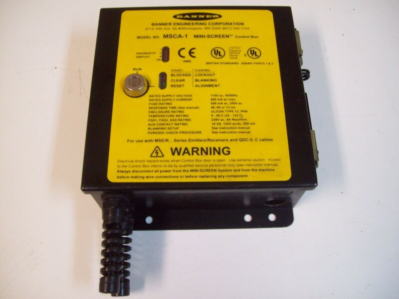 BANNER MSCA-1 MINI-SCREEN CONTROLLER BOX - USED - FREE SHIPPING!!