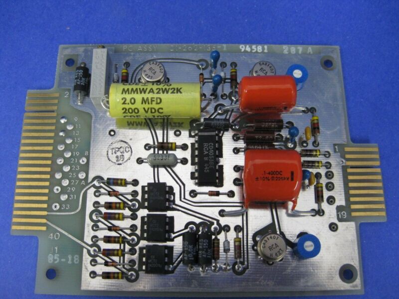 Thermco 01-262-135 -1, PCB Assembly, firing card Used