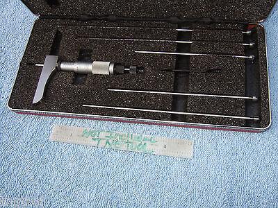 Starrett 443z-6rl Used Depth Micrometer 0-6 Vintage Usa Toolmaker Machinist