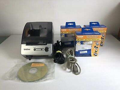 Brother Ql-500 Touch Thermal Label Printer Wpower Usb Cable 3x Labels