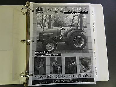 Long Landtrac Tractor Models 330 Hst390 Hst Parts Book