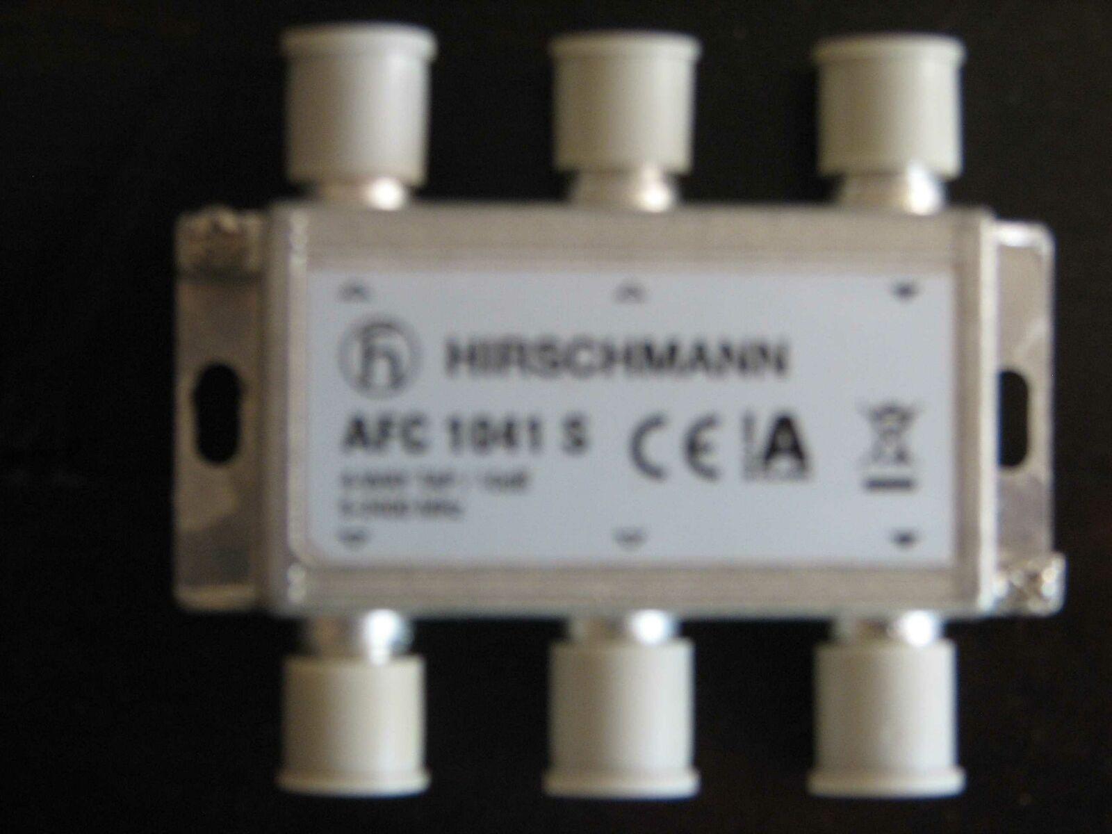 Hirschmann – 4 Ausgänge 10 dB Ladedruck Band 5 – 2.400 MHz AFC 1041 S