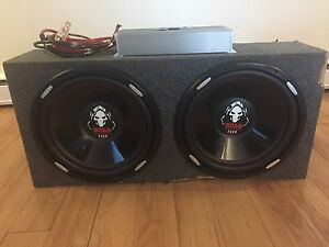SUBWOOFERS 2 15inch with amp and box!