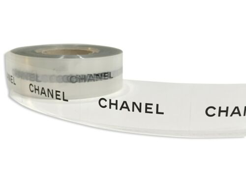 "10 Authentic Chanel Decal Stickers Clear Transparent 2""x1"" box bag gift wrap"