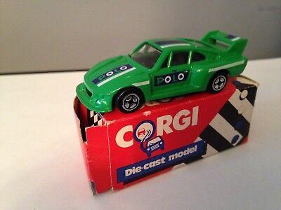 CORGI JUNIOR -- PORSCHE 935 - GREEN WITH 'POLO' DECALS
