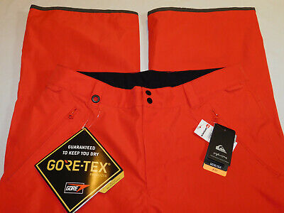 NEW QUIKSILVER FOREVER 2L GORE TEX SNOW PANTS SKI FLAME RED