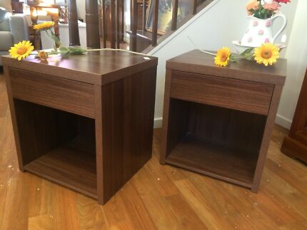 Pair of 1 drawer bedside tables Sandy Bay Hobart City Preview