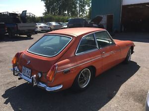 1971 mgb gt rare coupe