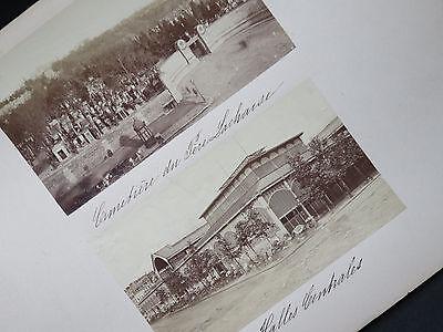 ca 1878! Vintage Foto PARIS Père Lachaise Halles Centrales Photo TIRAGE ALBUMINE