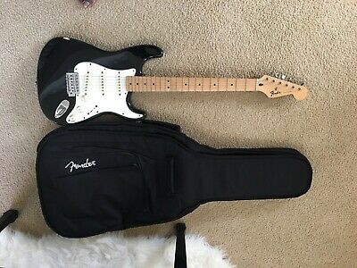 Fender Stratocaster Black and White Electric Guitar