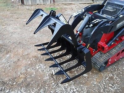 Toro Dingo Mini Skid Steer Attachment 48 Root Rake Grapple Bucket - Ship 179