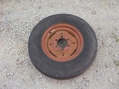 International Farmall 656 Tractor Original Rim Old Used 7.50 16 Tire