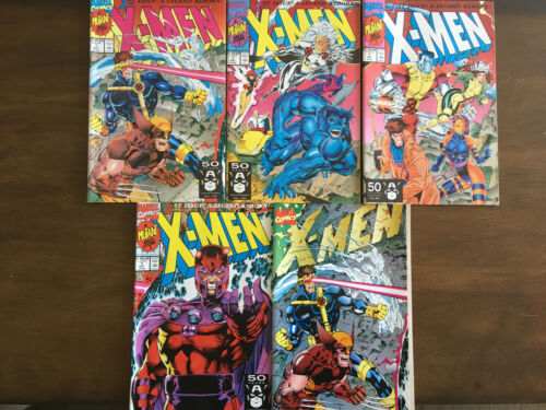 X-MEN # 1 A B C D E LOT MARVEL COMICS 1991 JIM LEE NEAR MINT (WOLVERINE GAMBIT)