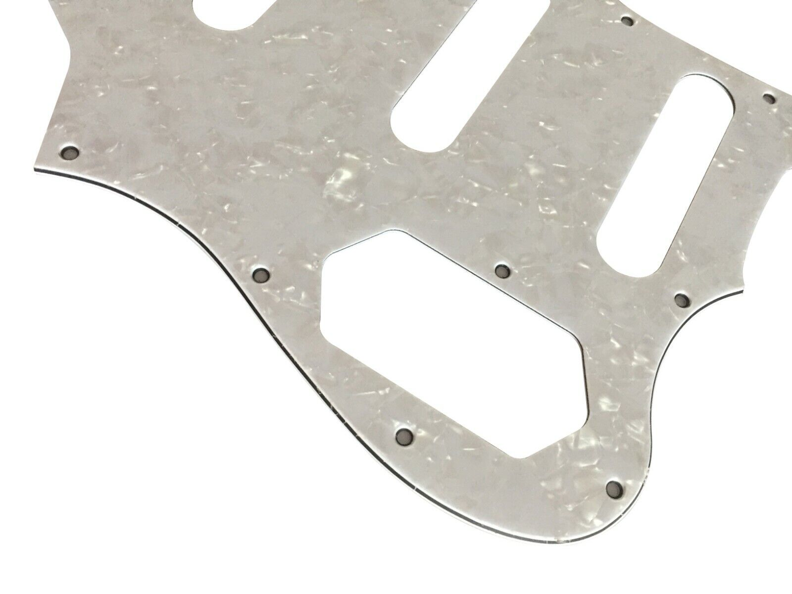 Custom 4 Ply White Pearl Squier Vintage Modified Bass VI Guitar Pickguard - $11.20