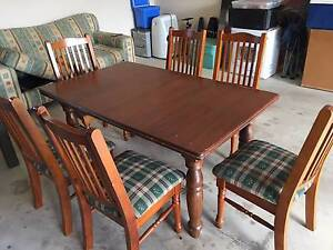 Dinning table + chairs for 6 people Kialla Shepparton City Preview