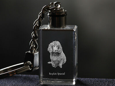 Boykin Spaniel, Dog Crystal Keyring, Keychain, High Quality, Crystal Animals UK