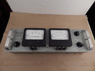 Vintage Westinghouse Test Meter Unit Rack-mounted Meters Type Tct Steam Punk