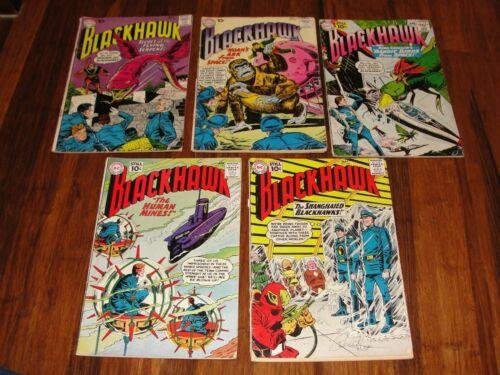 "DC ""BLACKHAWK"" #148 #152 1960 #158 #159 #160 1961 COMIC BOOKS"